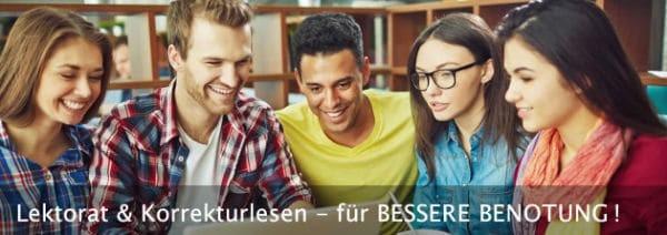 Lektorat & Korrekturlesen für eine Bachelorarbeit, Masterarbeit, Dissertation, Hausarbeit und Seminararbeit